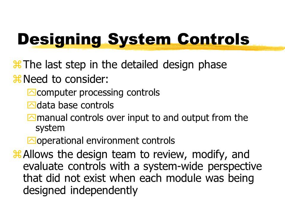 Designing System Controls