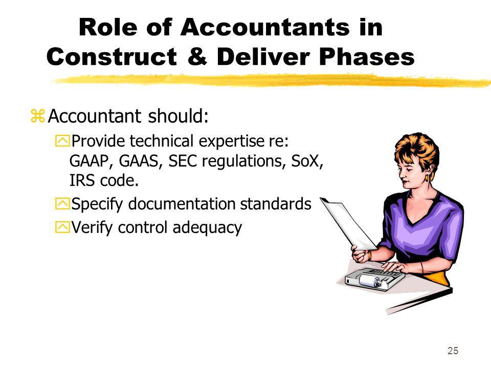 Role of Accountants in Construct & Deliver Phases