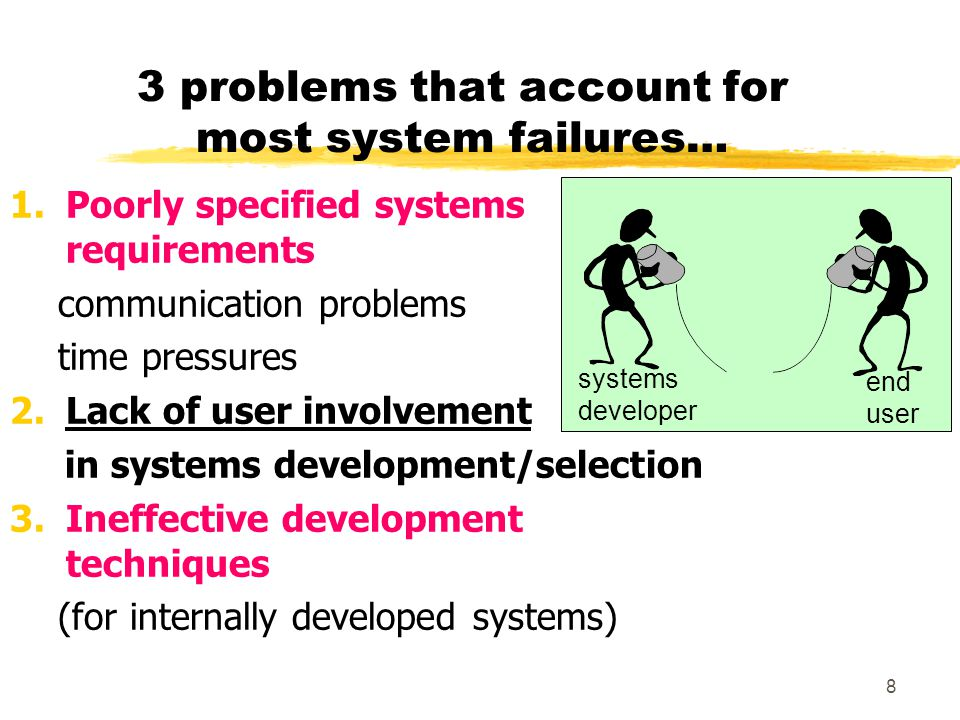 3 problems that account for most system failures…
