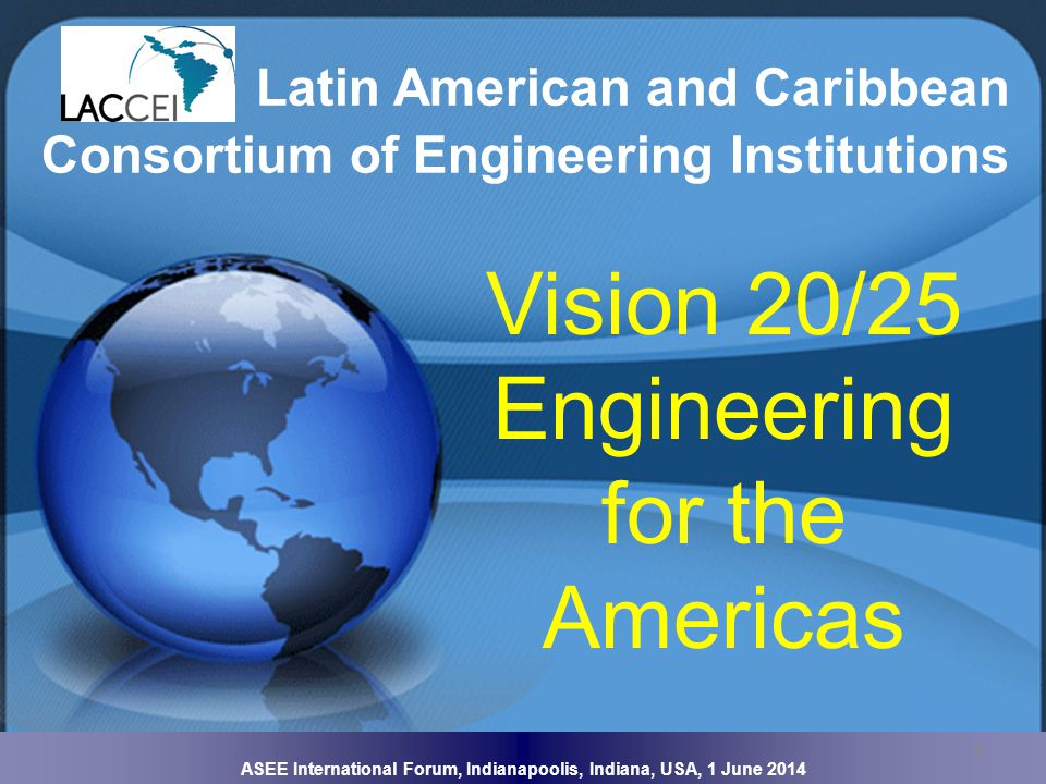 ASEE International Forum, Indianapoolis, Indiana, USA, 1 June 2014