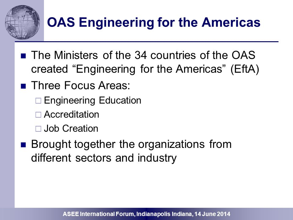 OAS Engineering for the Americas