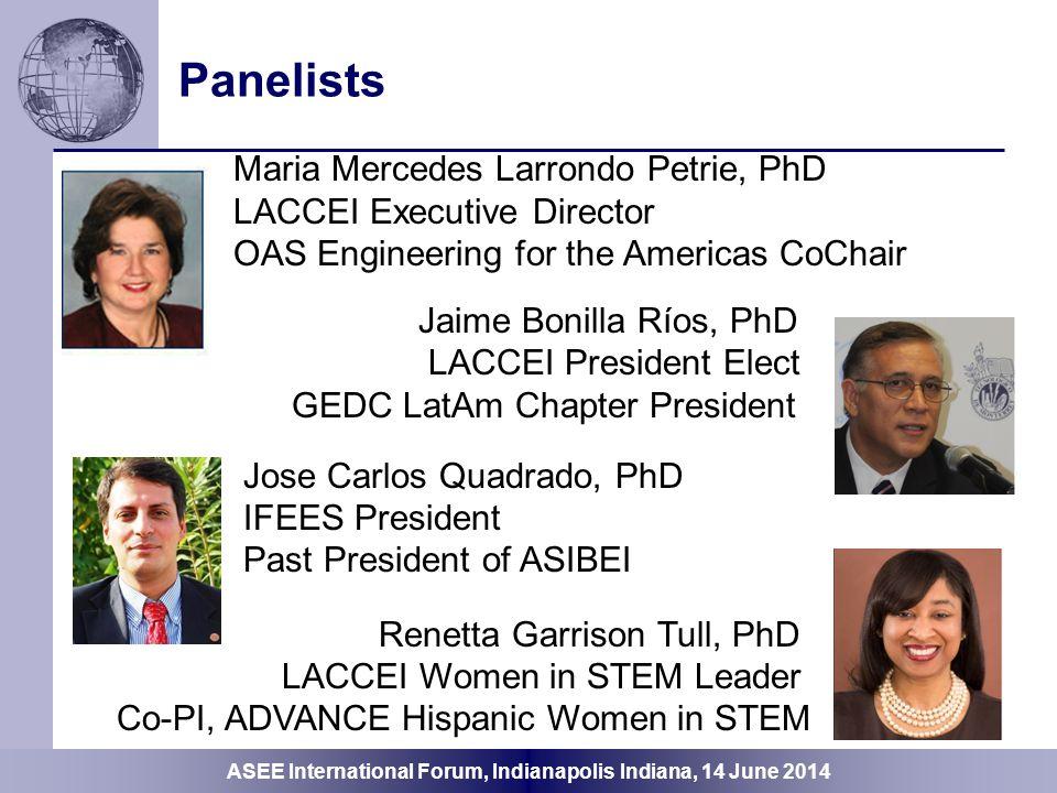 Panelists Maria Mercedes Larrondo Petrie, PhD