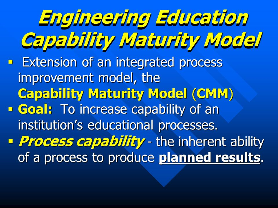 Engineering Education Capability Maturity Model
