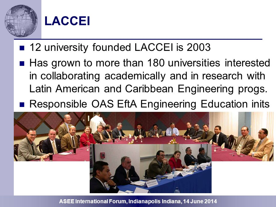 LACCEI 12 university founded LACCEI is 2003
