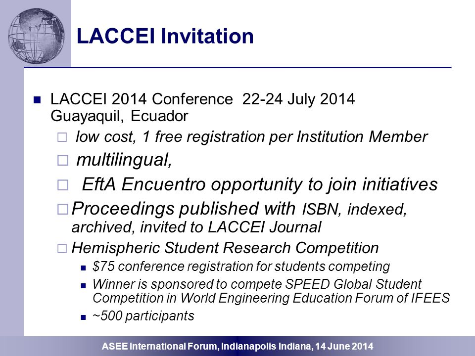 LACCEI Invitation multilingual,