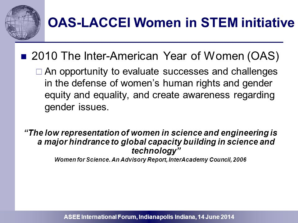 OAS-LACCEI Women in STEM initiative