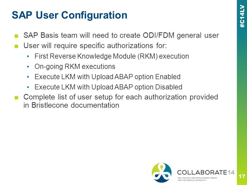 SAP User Configuration