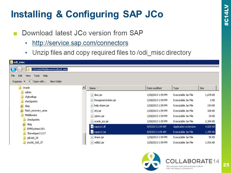 Installing & Configuring SAP JCo