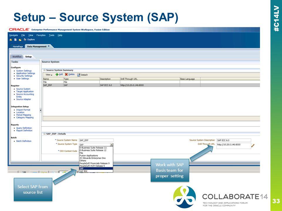 Setup – Source System (SAP)