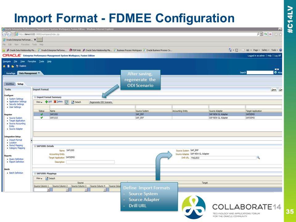 Import Format - FDMEE Configuration