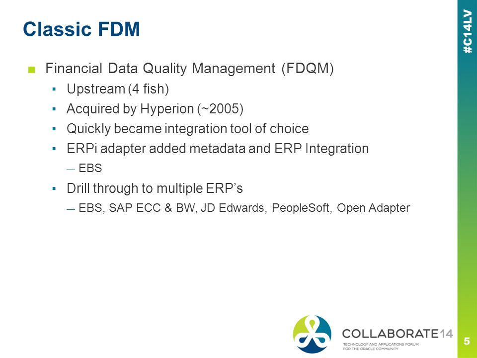 Classic FDM Financial Data Quality Management (FDQM) Upstream (4 fish)