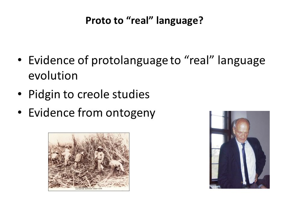 Proto to real language
