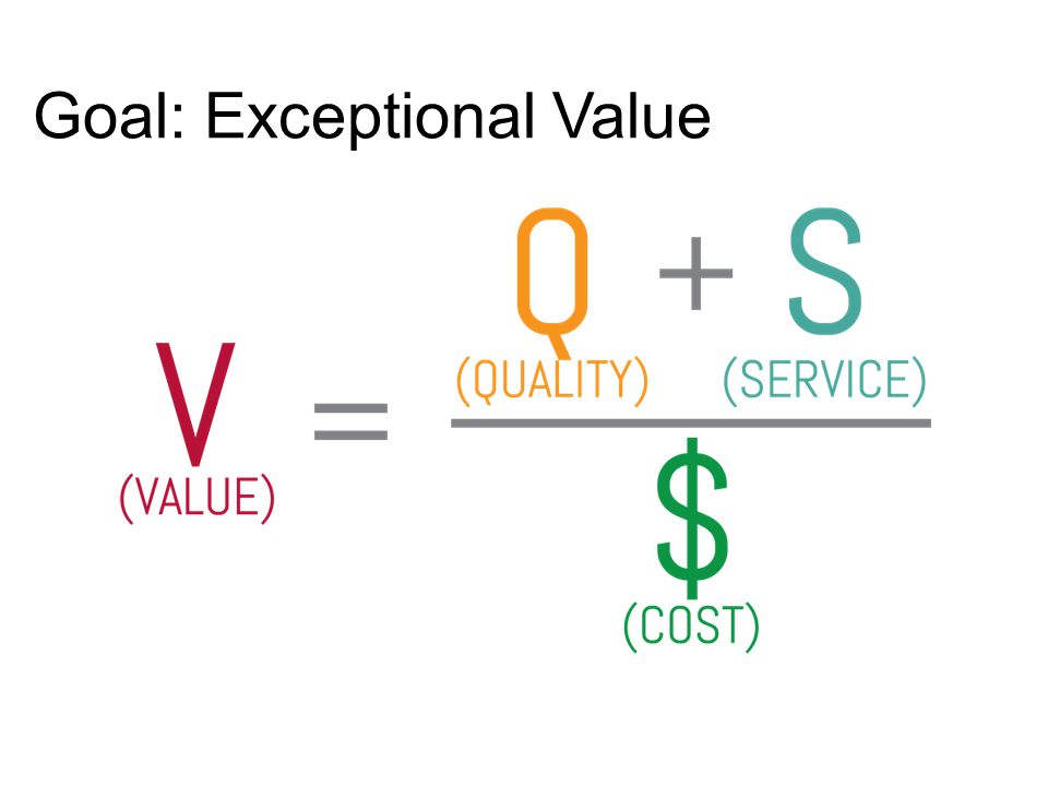 Goal: Exceptional Value