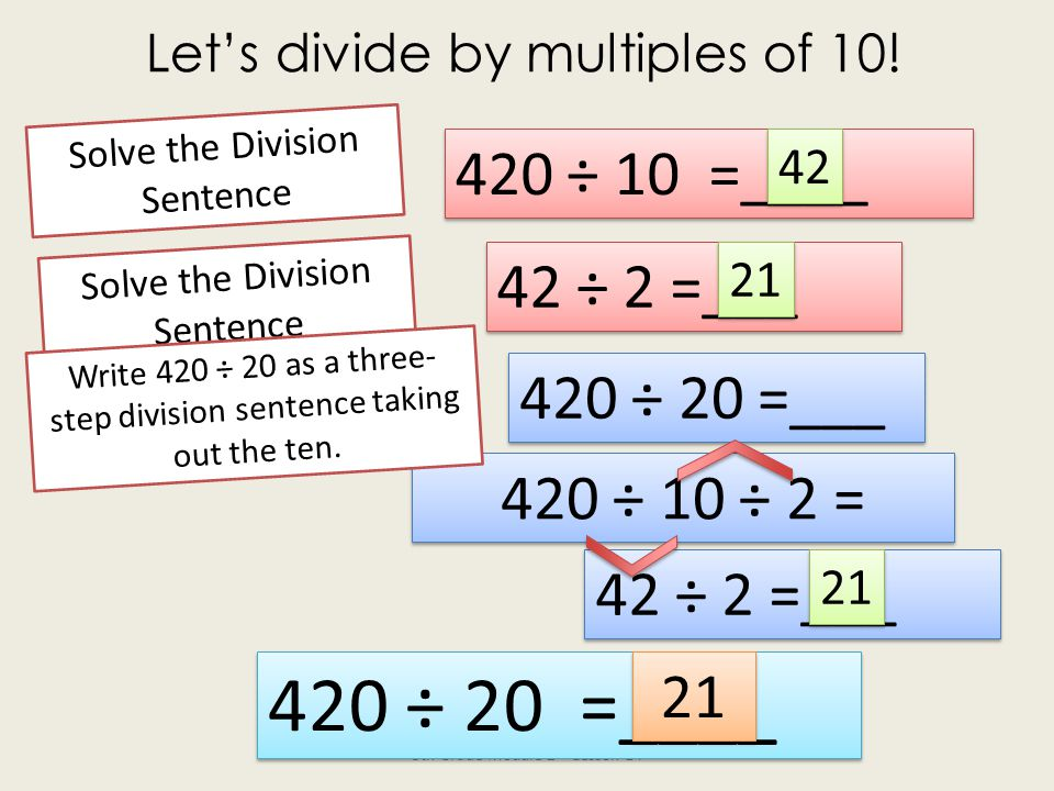 Let's divide by multiples of 10!