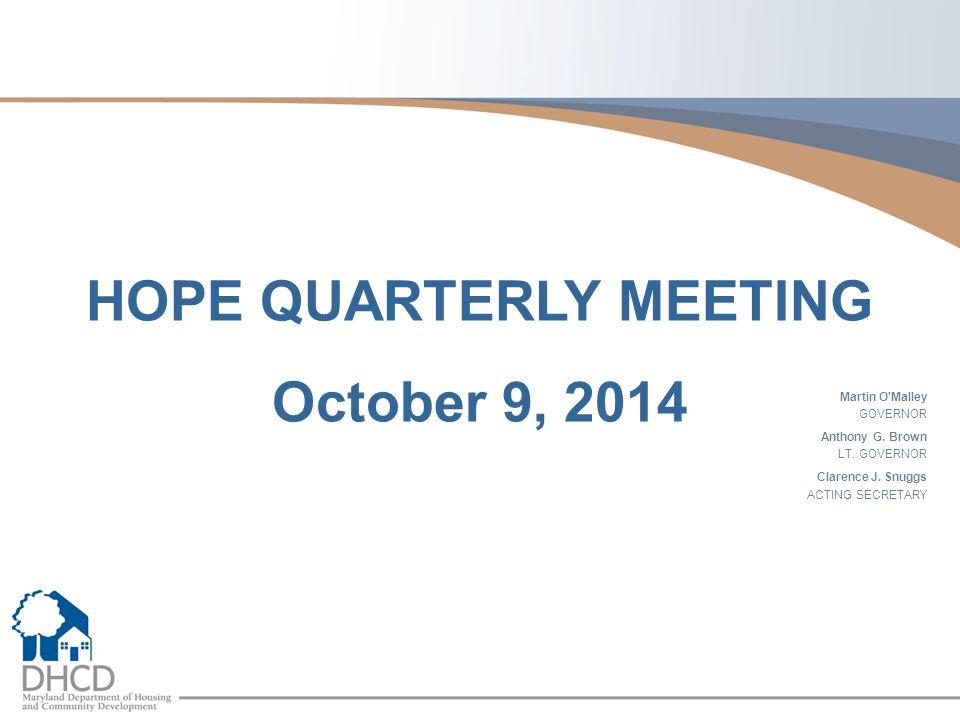 HOPE QUARTERLY MEETING