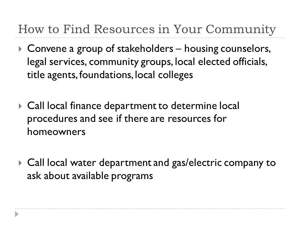 How to Find Resources in Your Community