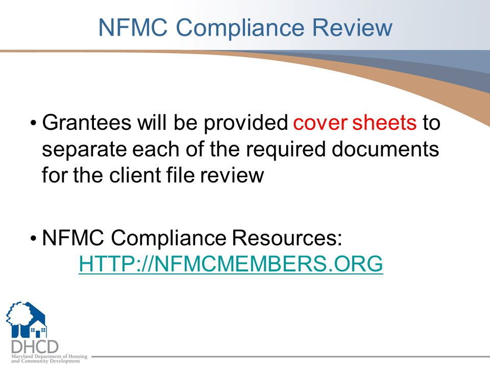 NFMC Compliance Review