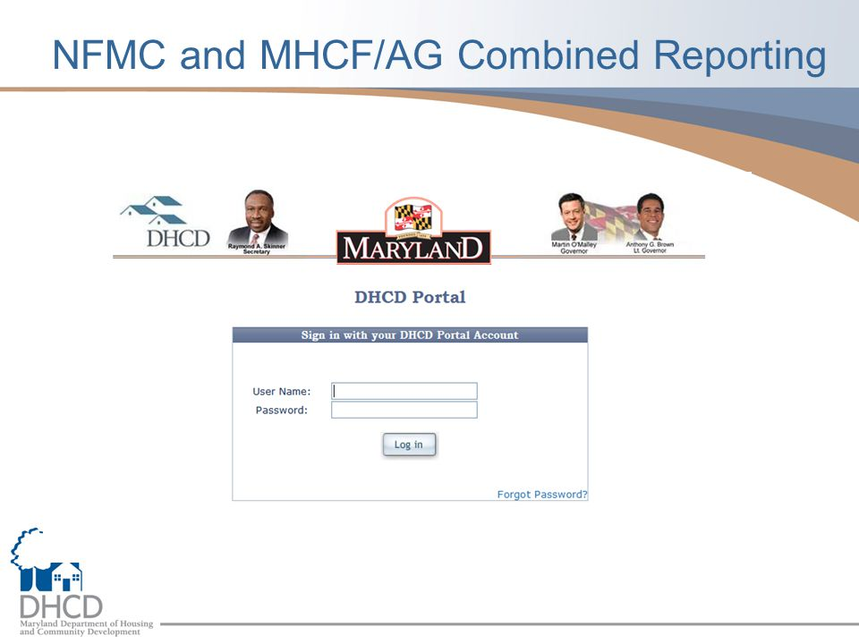 NFMC and MHCF/AG Combined Reporting