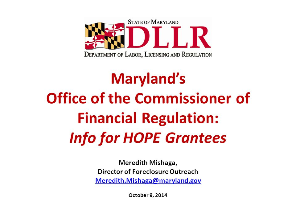 Director of Foreclosure Outreach