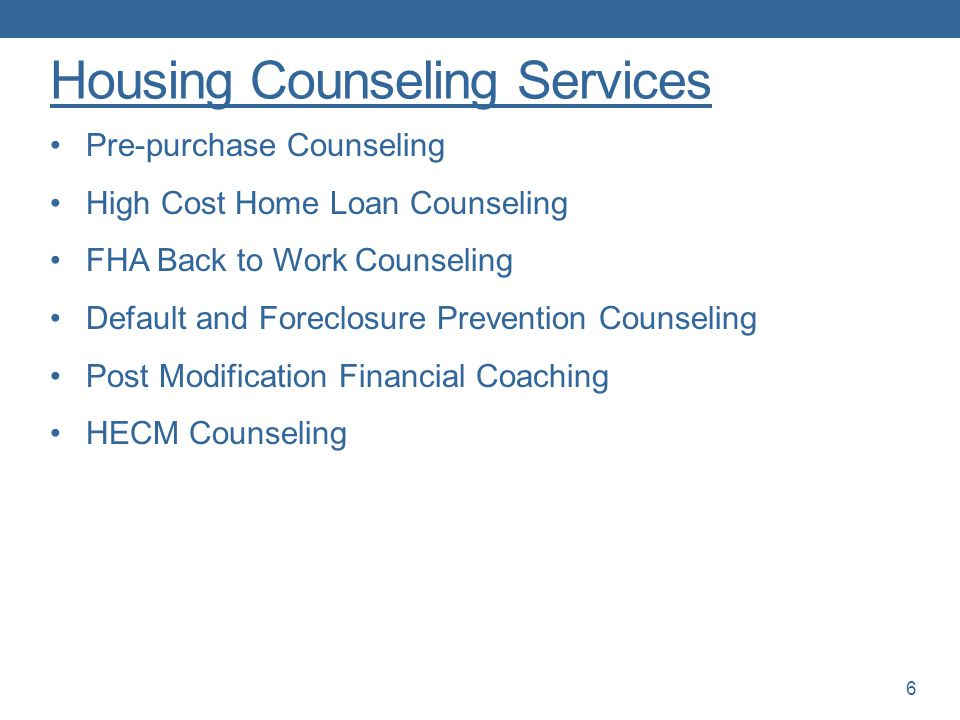 Housing Counseling Services