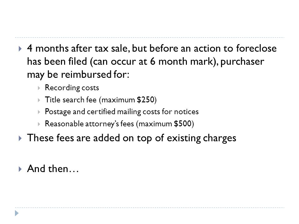 These fees are added on top of existing charges And then…