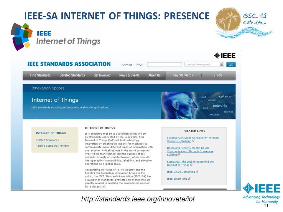 IEEE-SA INTERNET OF THINGS: PRESENCE