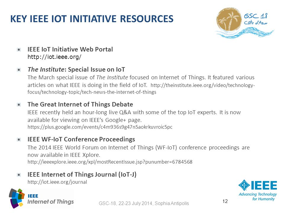 Key ieee iot initiative resources