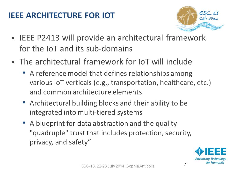 IEEE Architecture for IoT