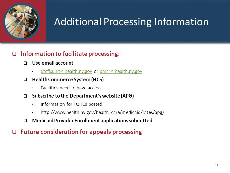 Additional Processing Information