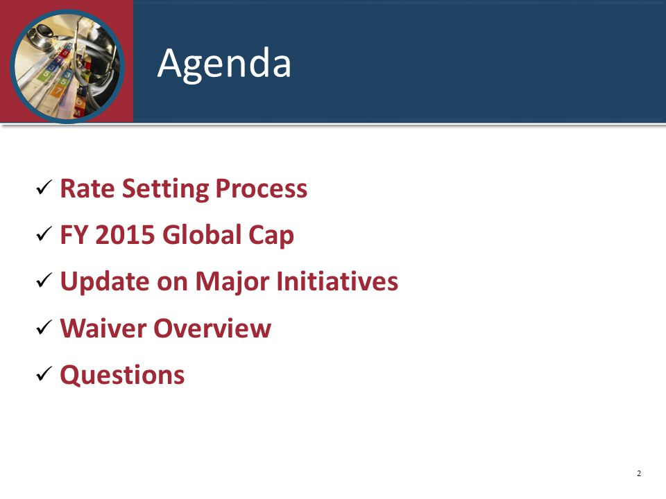 Agenda Rate Setting Process FY 2015 Global Cap