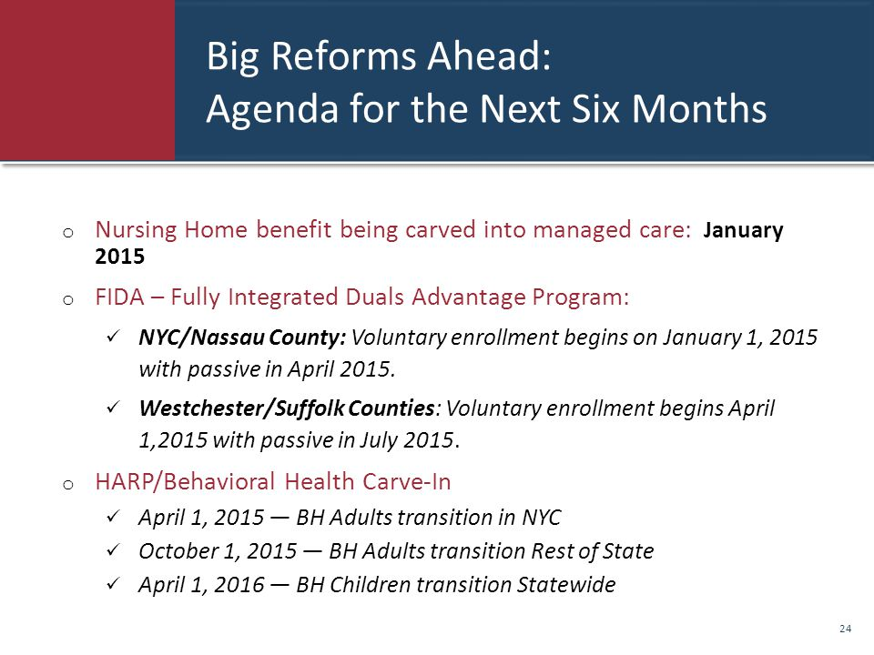 Big Reforms Ahead: Agenda for the Next Six Months