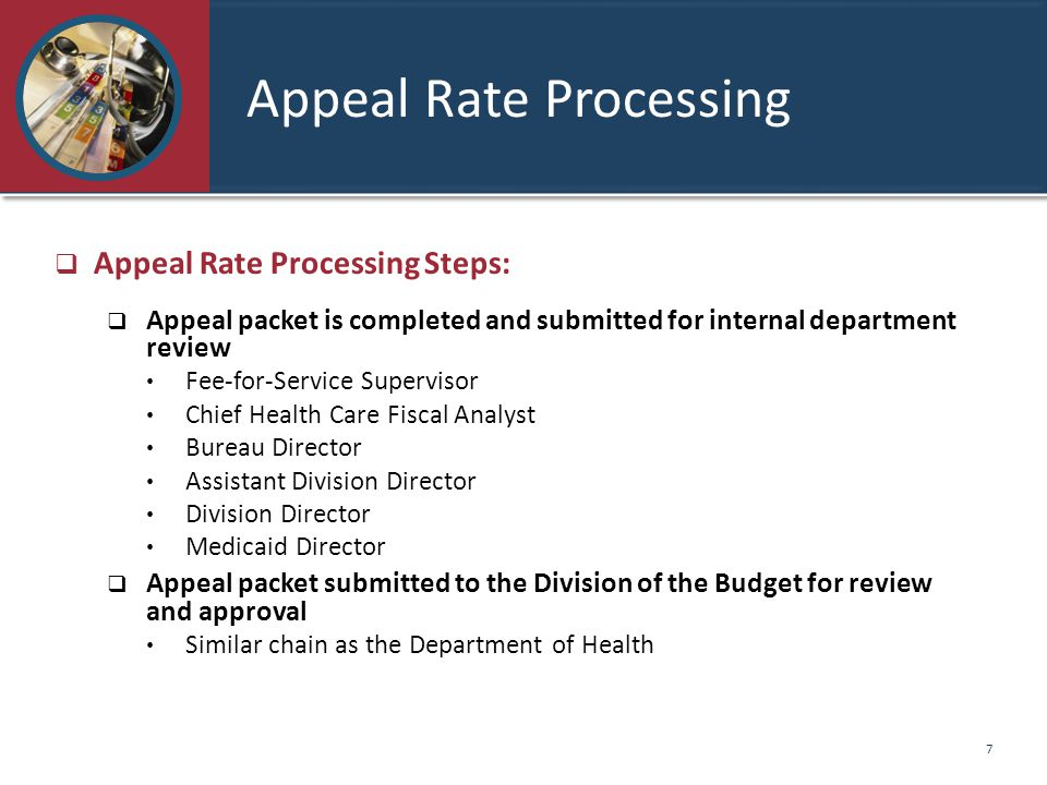 Appeal Rate Processing
