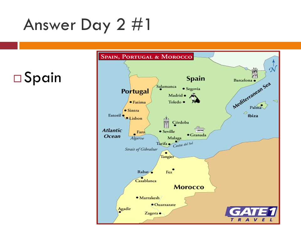 Answer Day 2 #1 Spain