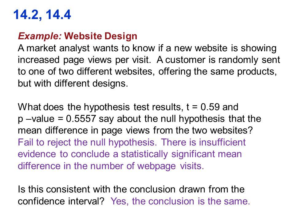 14.2, 14.4 Example: Website Design