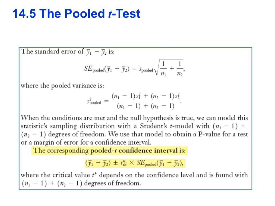 QTM1310/ Sharpe 14.5 The Pooled t-Test 30