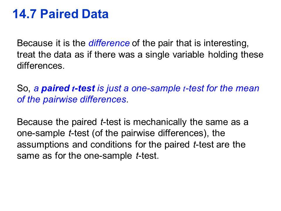 QTM1310/ Sharpe 14.7 Paired Data.