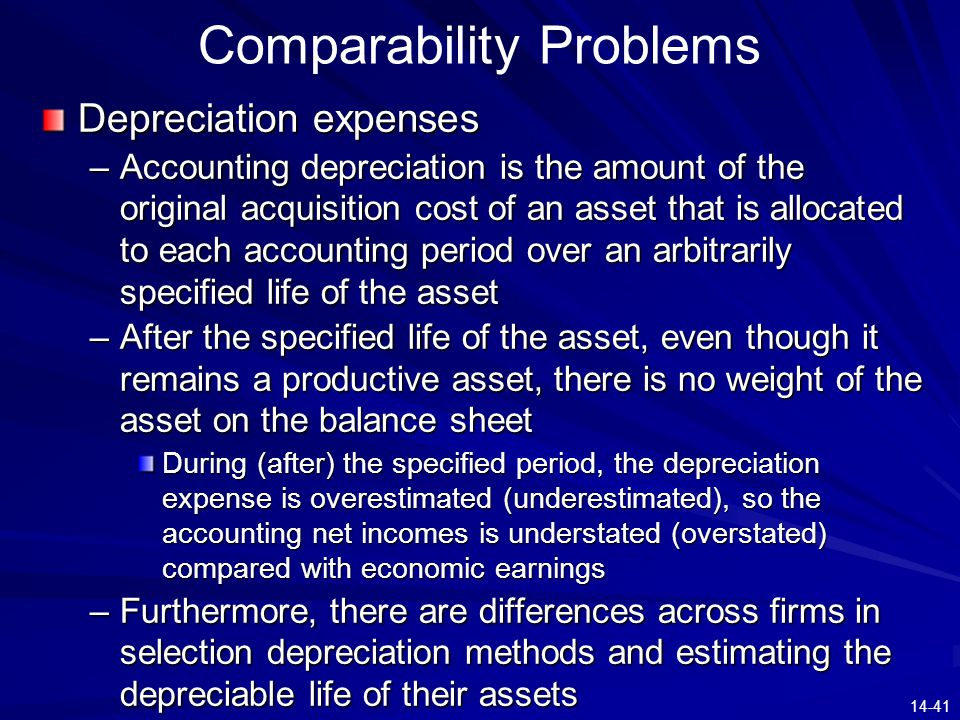 Comparability Problems
