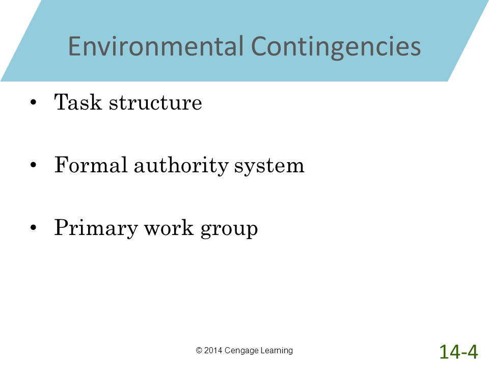 Environmental Contingencies