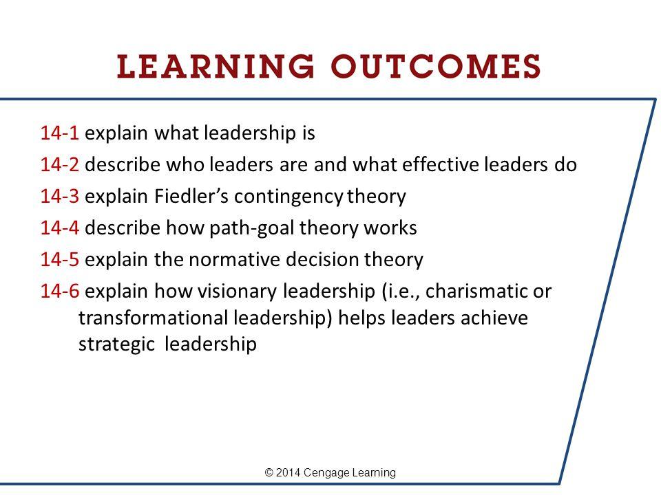 14-1 explain what leadership is