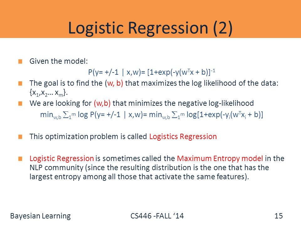 Logistic Regression (2)
