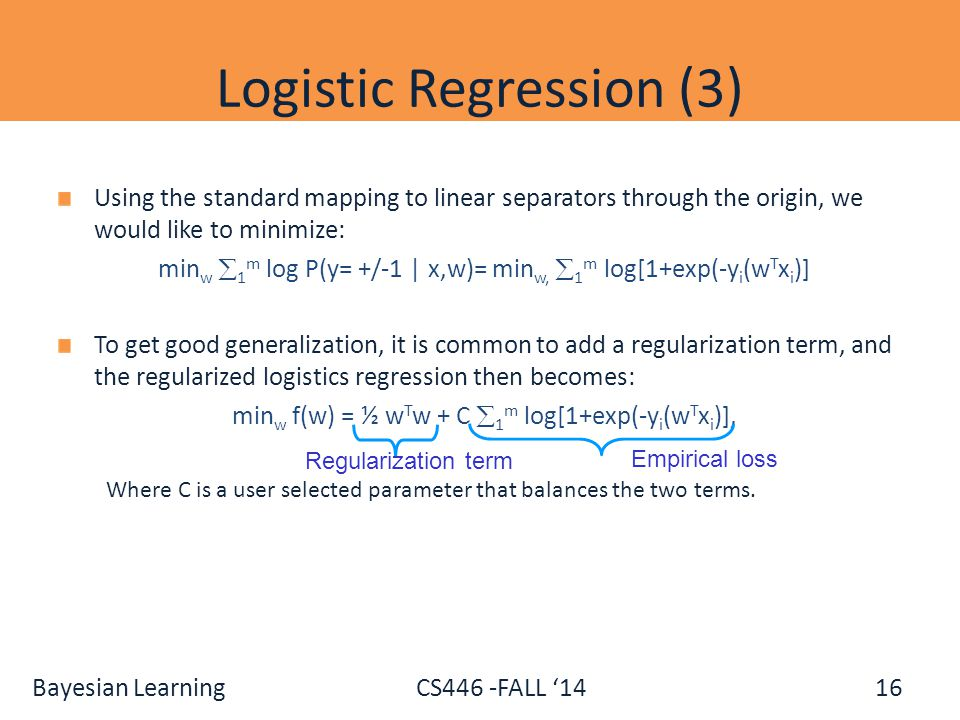Logistic Regression (3)