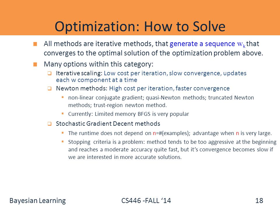 Optimization: How to Solve