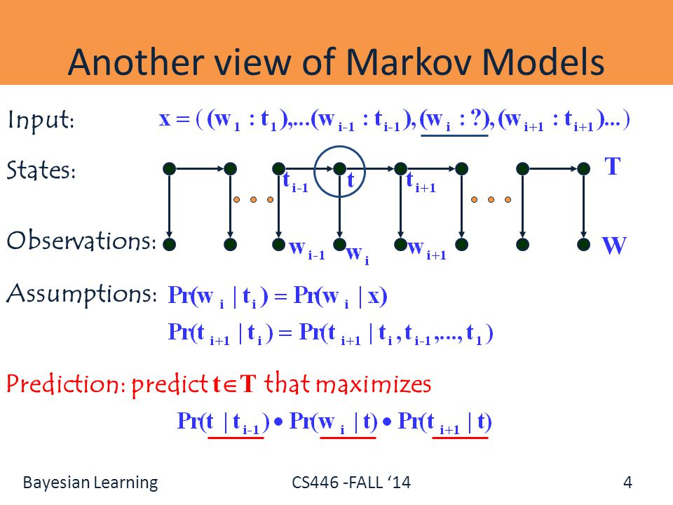 Another view of Markov Models