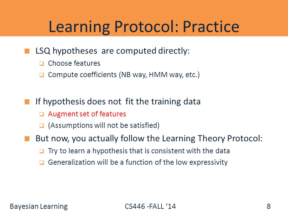 Learning Protocol: Practice
