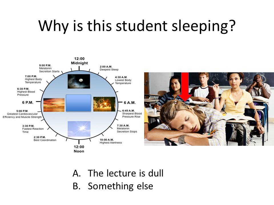 Why is this student sleeping