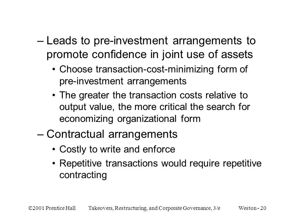 Contractual arrangements