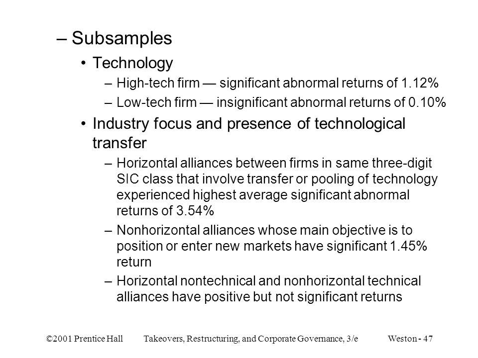 Subsamples Technology