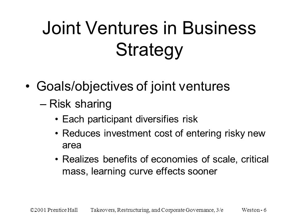 Joint Ventures in Business Strategy