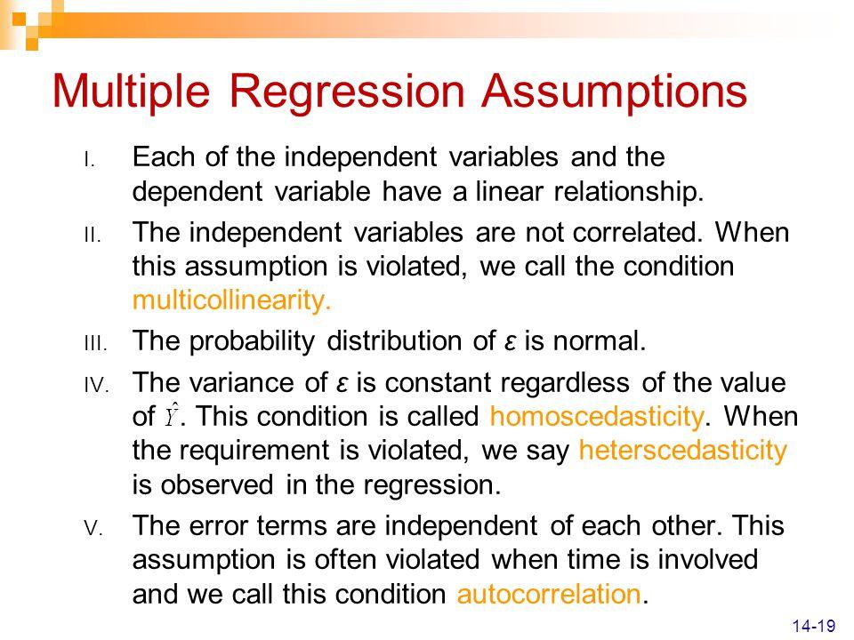 Multiple Regression Assumptions