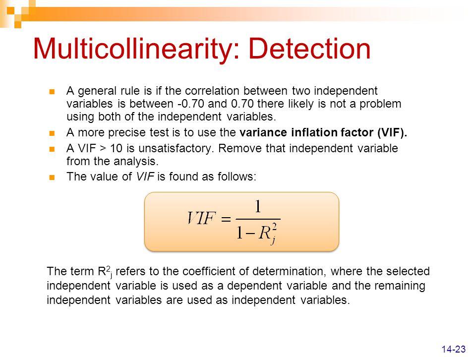 Multicollinearity: Detection